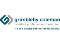 Grimbleby coleman logo in green and silver