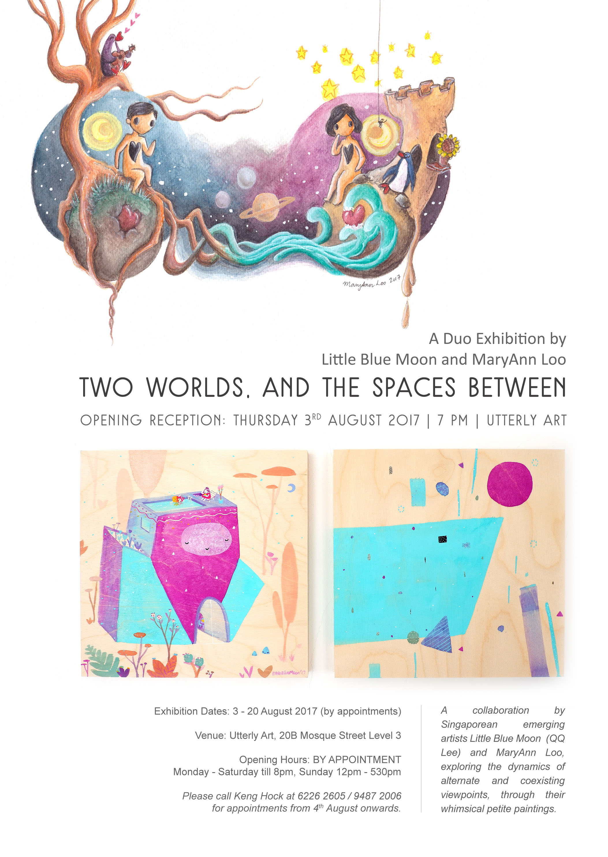 Two Worlds Exhibition Poster