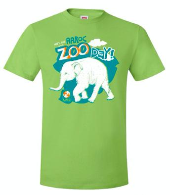 2018 AAROC Zoo Day tshirt
