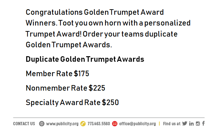 Golden Trumpet Awards Duplicate Info
