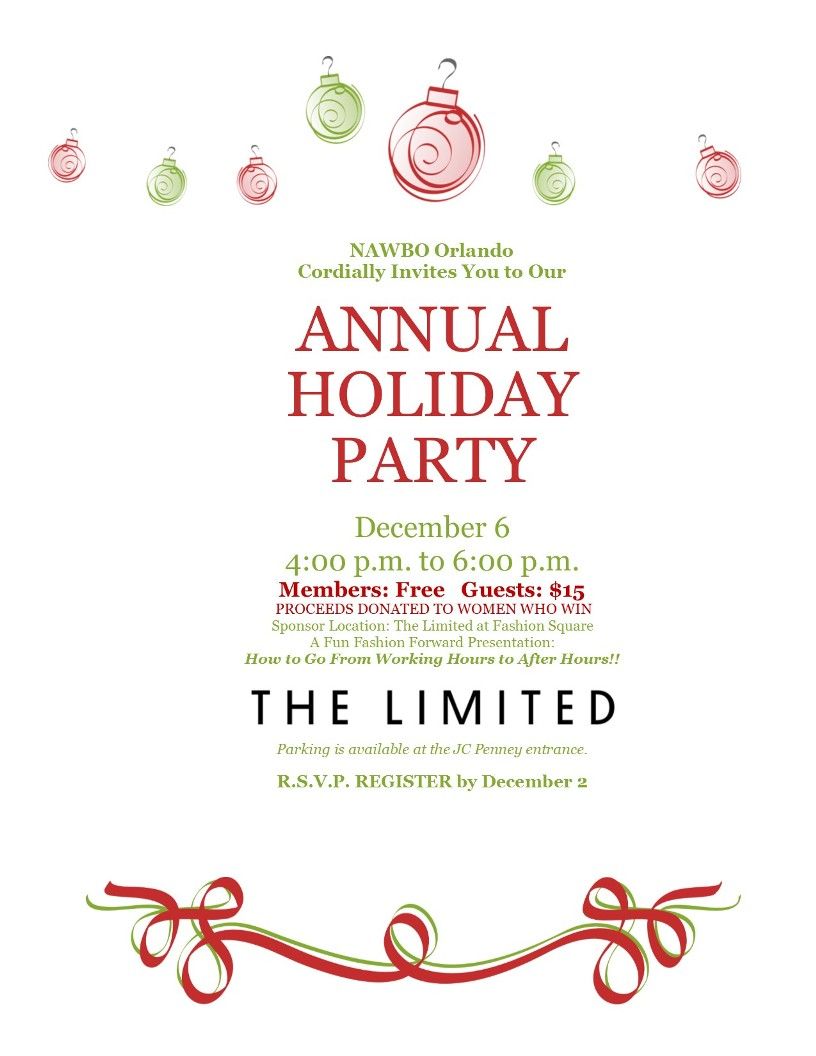 2016 Holiday party flier