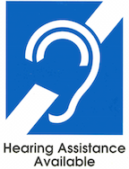 Hearing assistance available logo