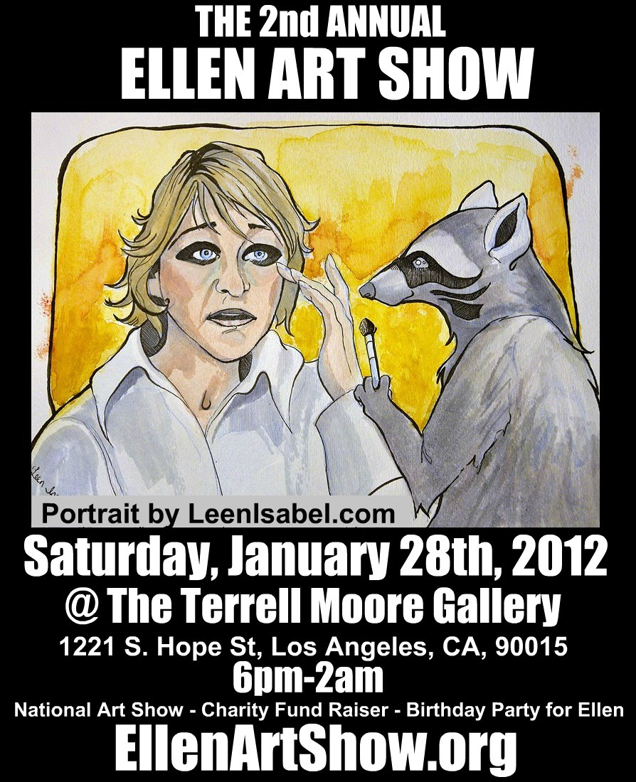 Poster for The 2nd Annual Ellen Art Show on 1/28/12