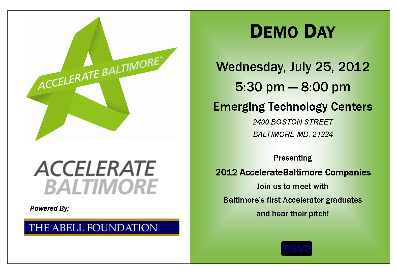 Demo Day invitation