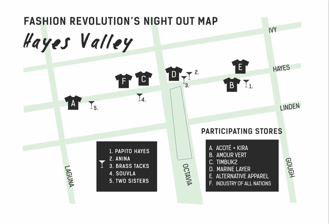 Hayes Valley Store Map
