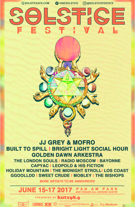 Solstice Festival Poster with Beautiful Artwork