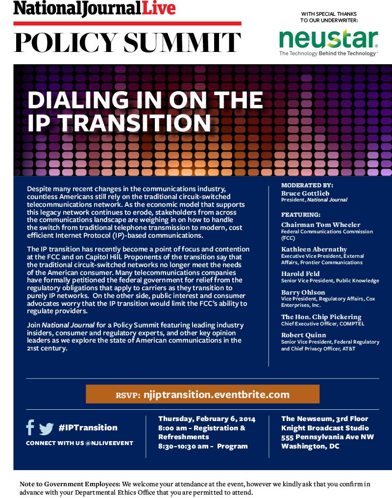 Dialing In on the IP Transition, Feb. 6