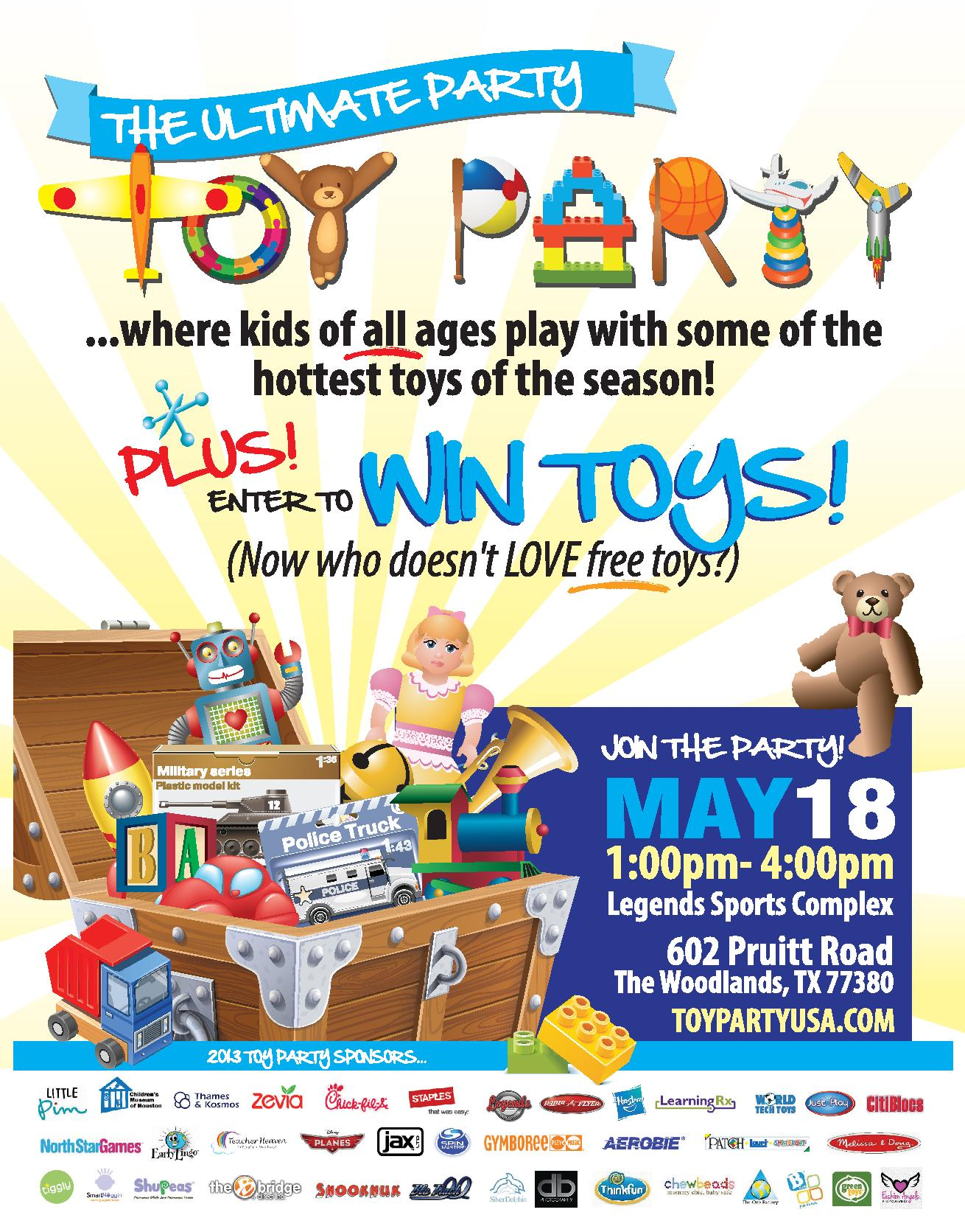 Toy Party Flyer