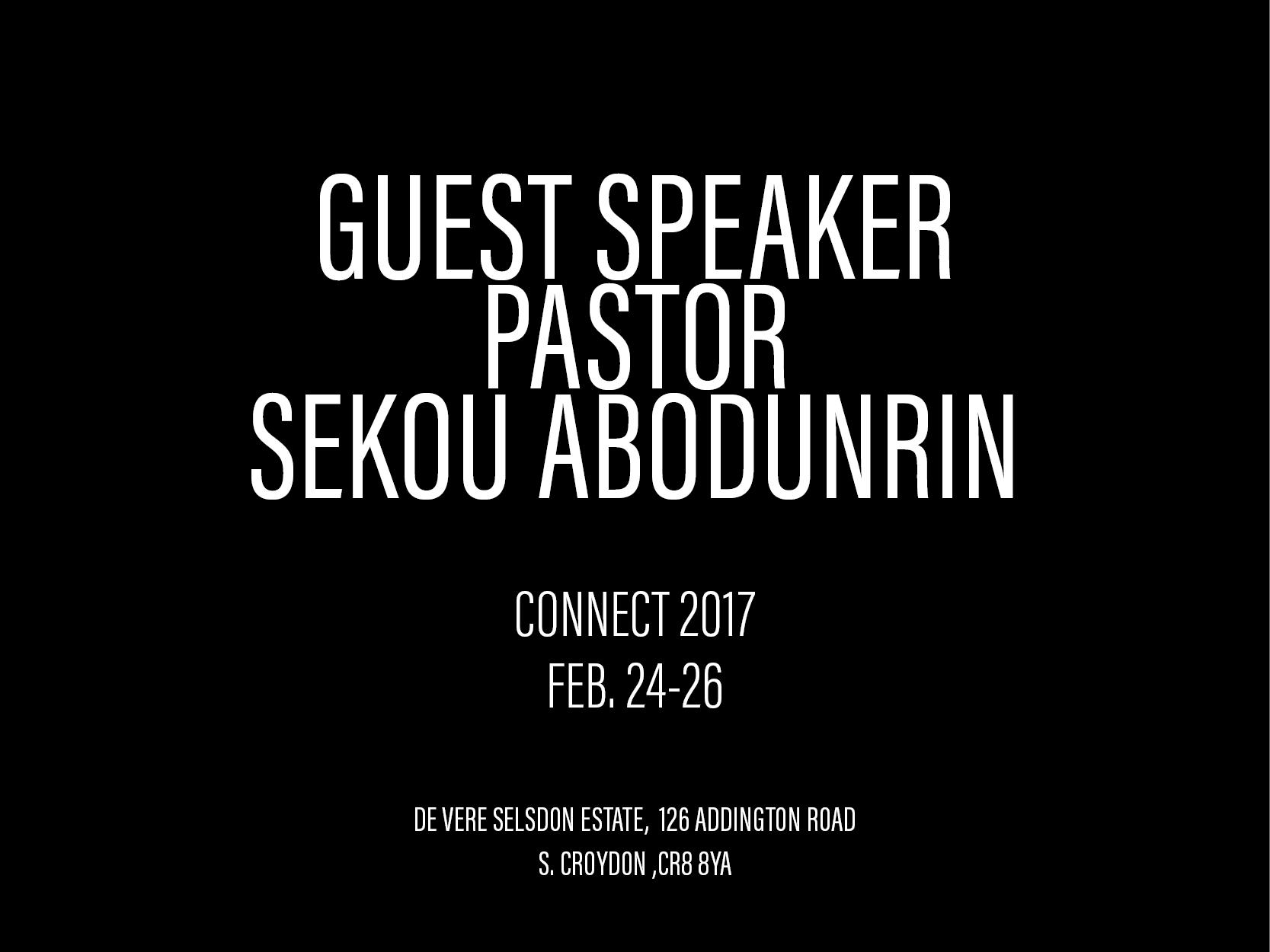 Guest Speaker Pastor Abodunrin