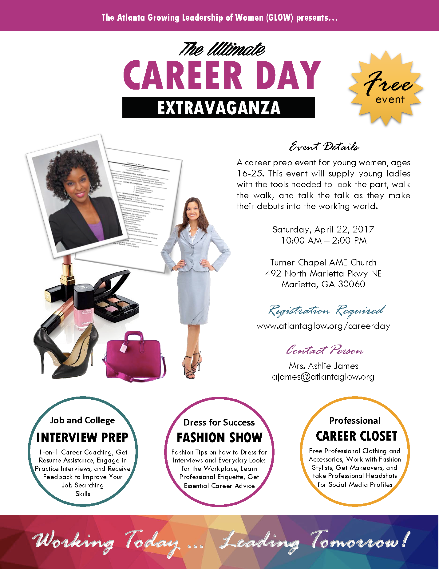 career day extravaganza registration sat apr 22 2017 at 10 00 entrepreneurship and or early career our programs are not just intended to get them there but also to equip them the support and tools they need