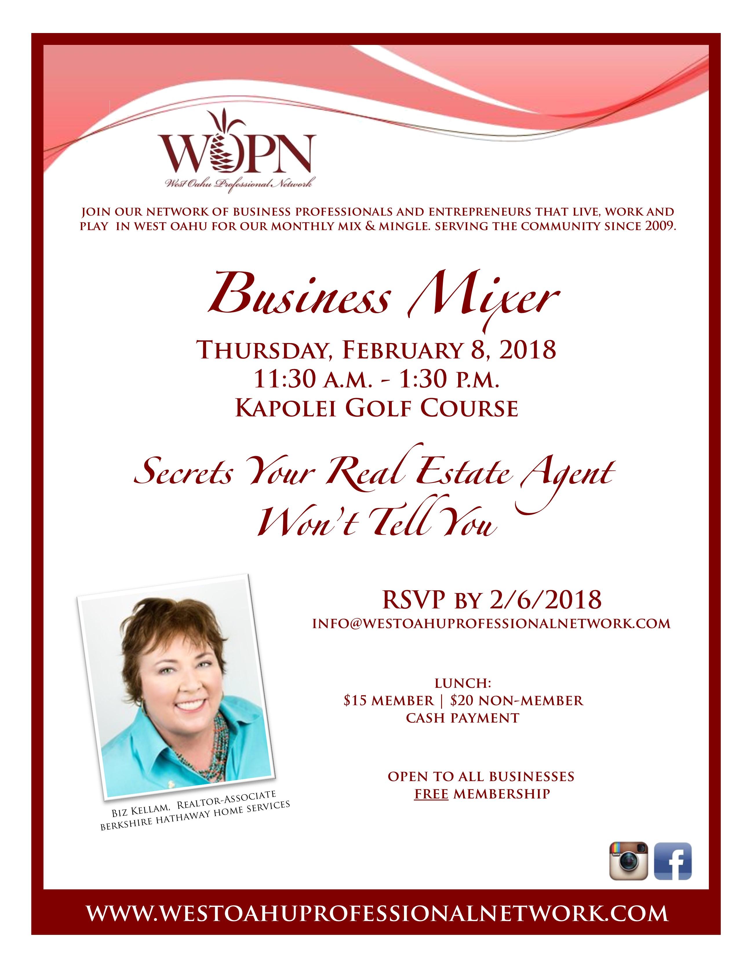WOPN Business Mixer - February 8, 2018