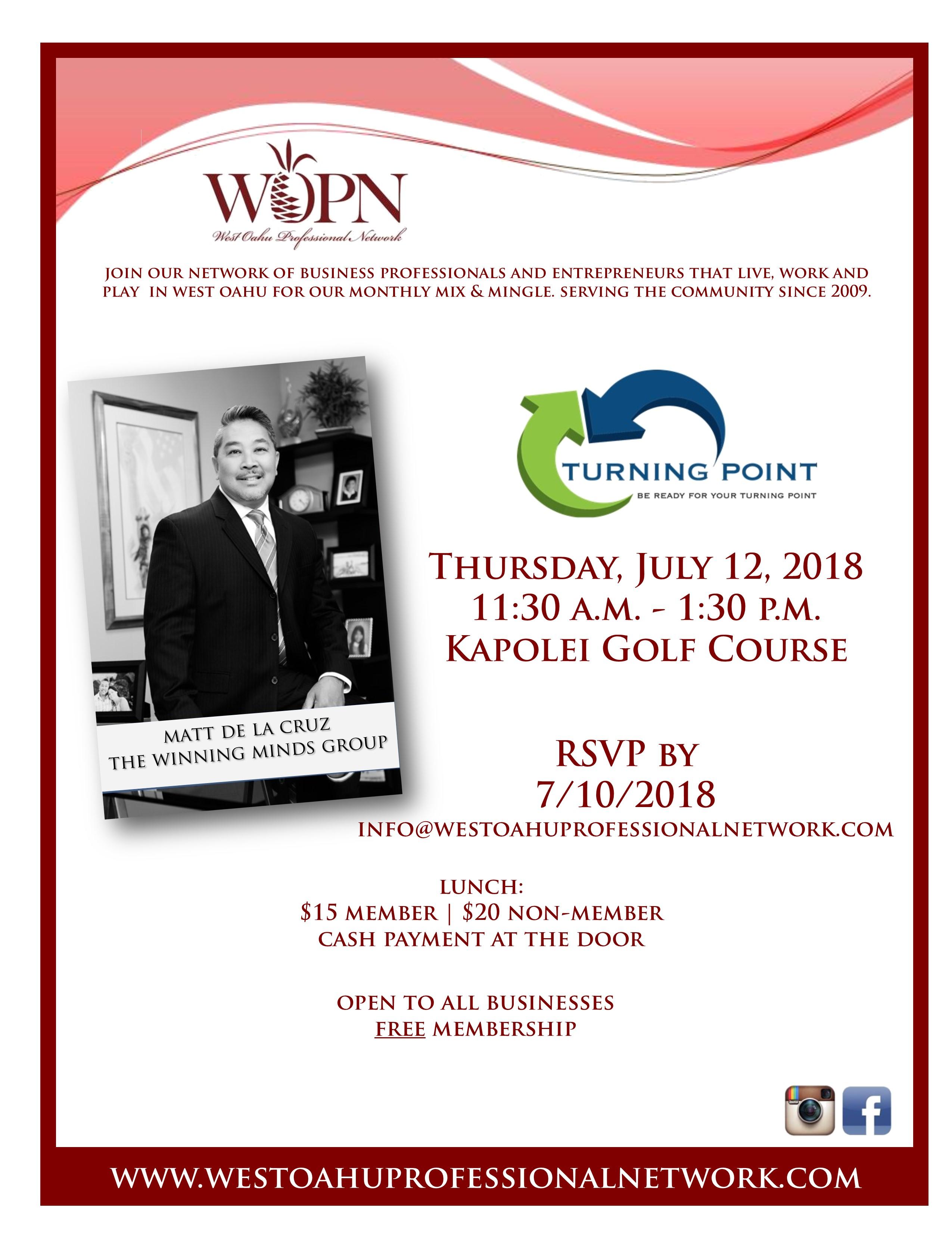 WOPN Business Mixer - July 12, 2018 Invite