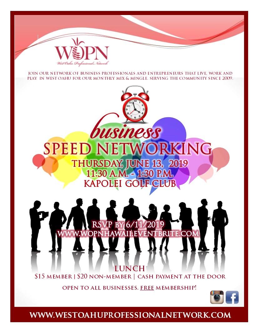 WOPN Business Mixer - Speed Networking - June 2019