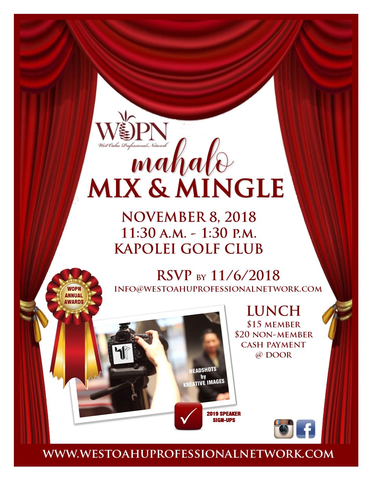 WOPN November 2018 Business Mixer