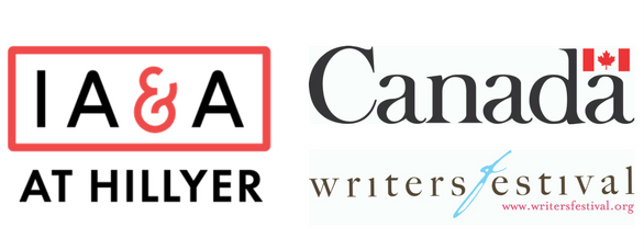 IA&A at Hillyer, Embassy of Canada, and Ottawa International Writers Festival logos