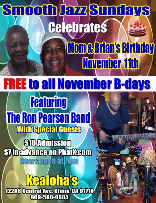 November Birthday Party as Smooth Jazz Sundays