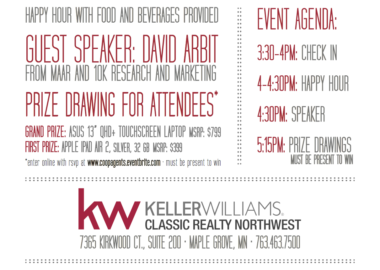Keller Williams Classic Realty NW Coop Agent Invite