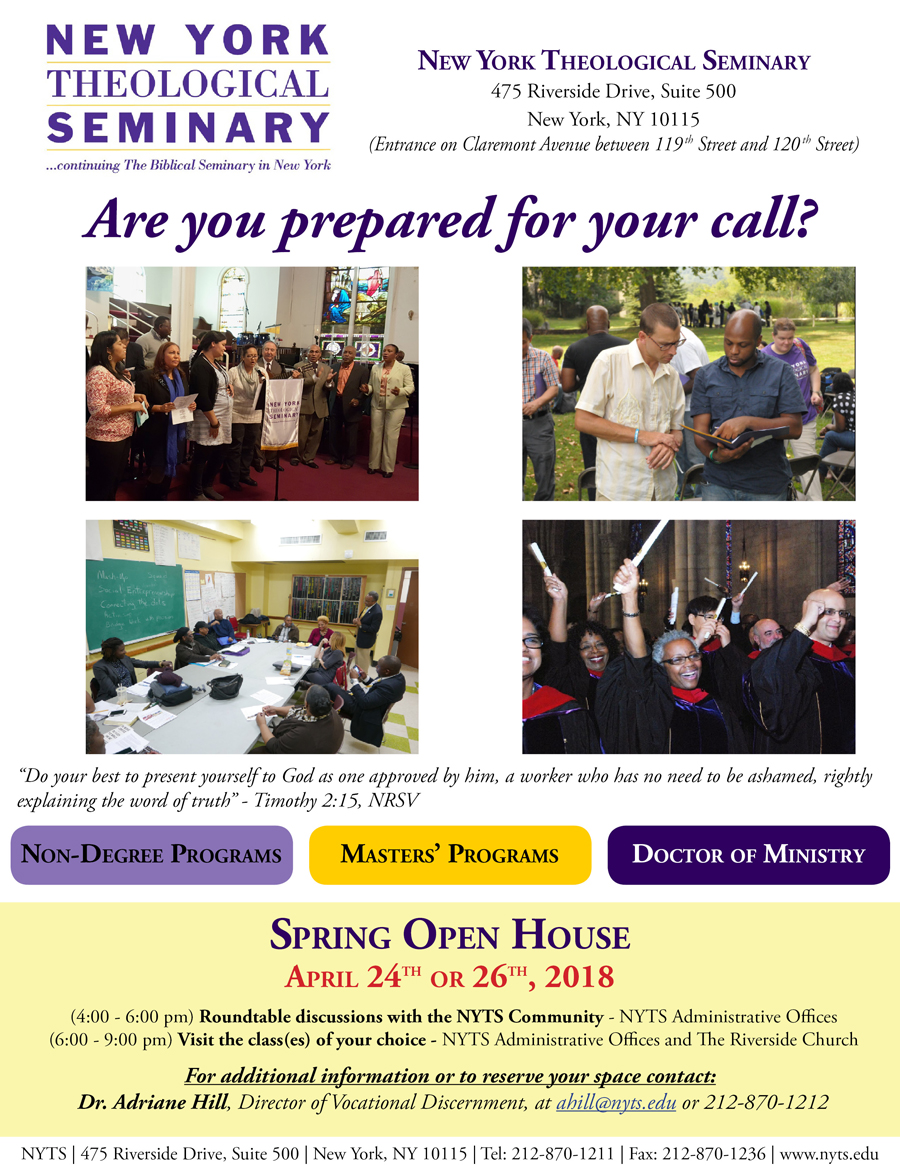 NYTS Spring 2018 Open House Flyer