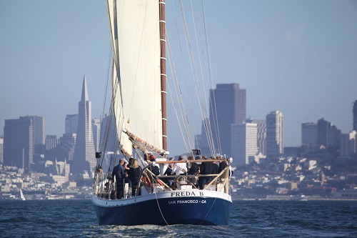 San Francisco Bay Afternoon Sail Freda B