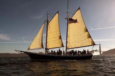 Freda B Full Moon Sail San Francisco Bay