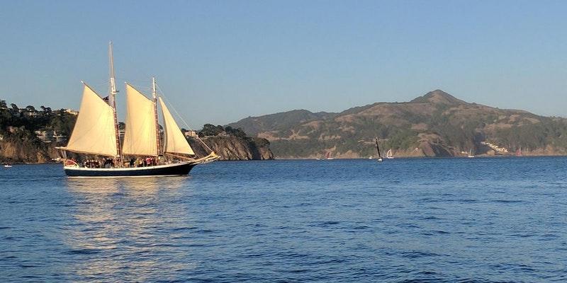Freda B Sunset Sail San Francisco Bay