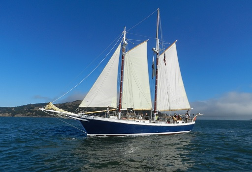 Freda B on the San Francisco Bay