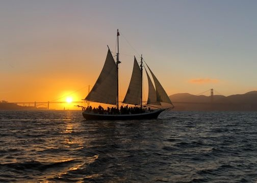 Freda B Summer Full Moon Sail San Francisco Bay