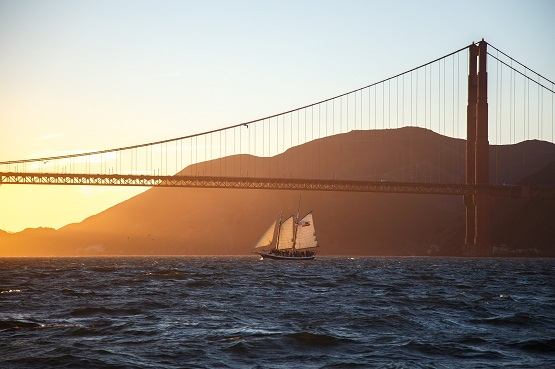 Golden Gate Full Moon Sail Freda B