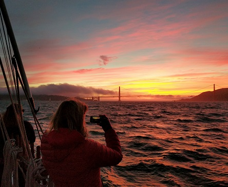 February Full Moon Sunset Sail San Francisco