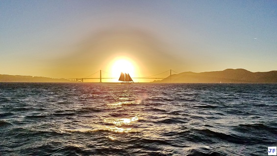 Golden Gate Sunset over the San Francisco Bay