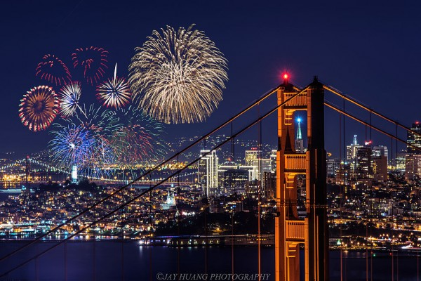 New Years Fireworks San Francisco Bay