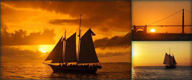 San Francisco Bay Sunset Sail