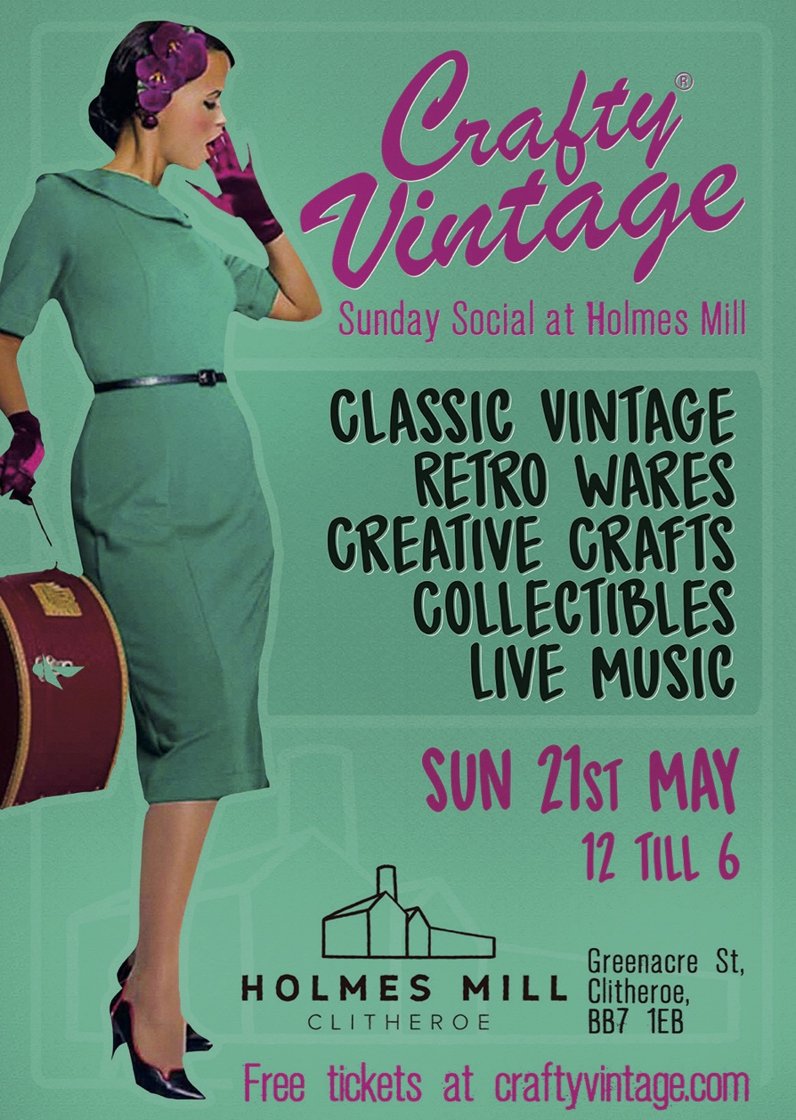 Crafty Vintage Holmes Mill Poster