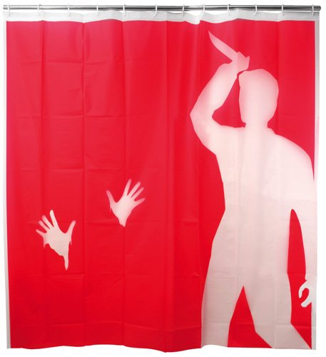 Psycho themed shower curtain