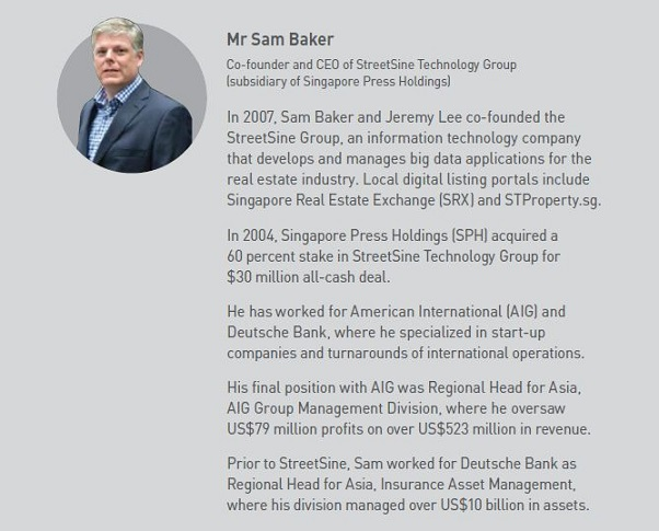 Mr Sam Baker CEO of StreetSine Technology
