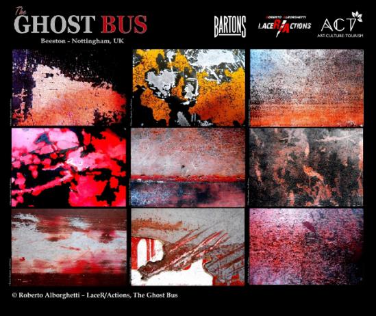 postcard showing Roberto's art work