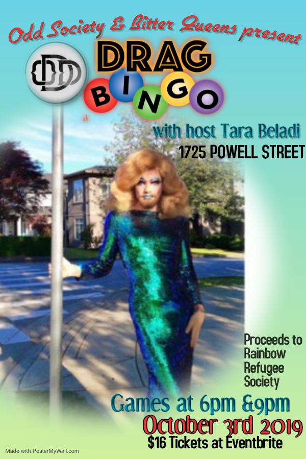 Odd Society Spirits Drag Bingo October 3