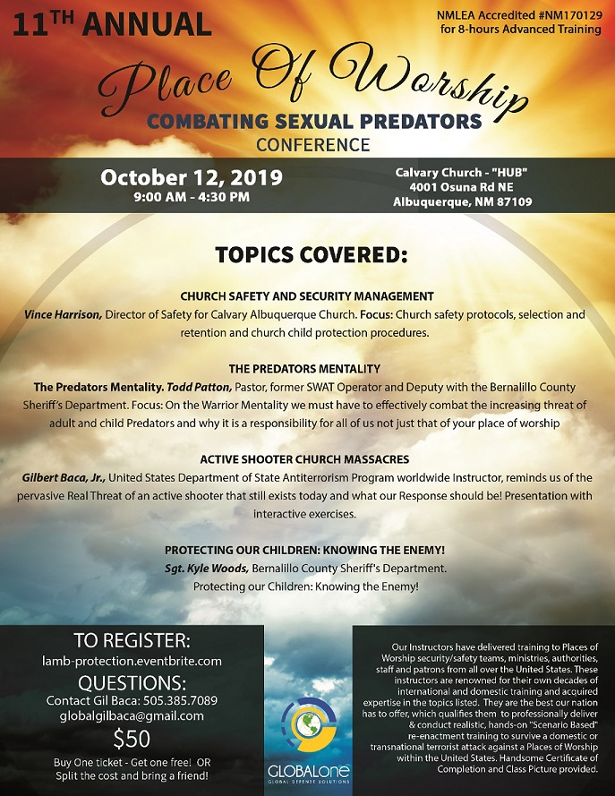 Place of Worship - Combating Sexual Predators Conference