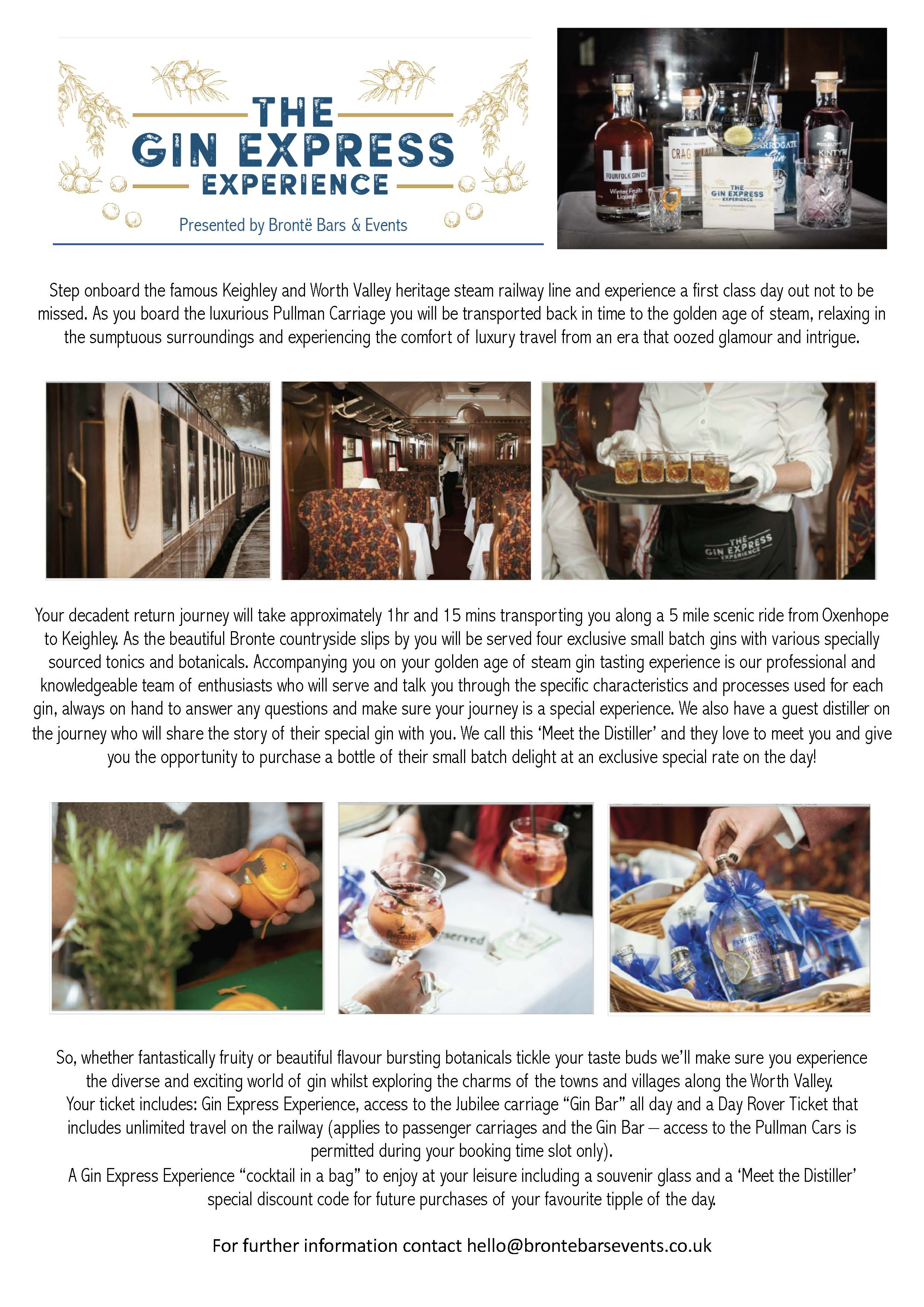 information about the gin express experience