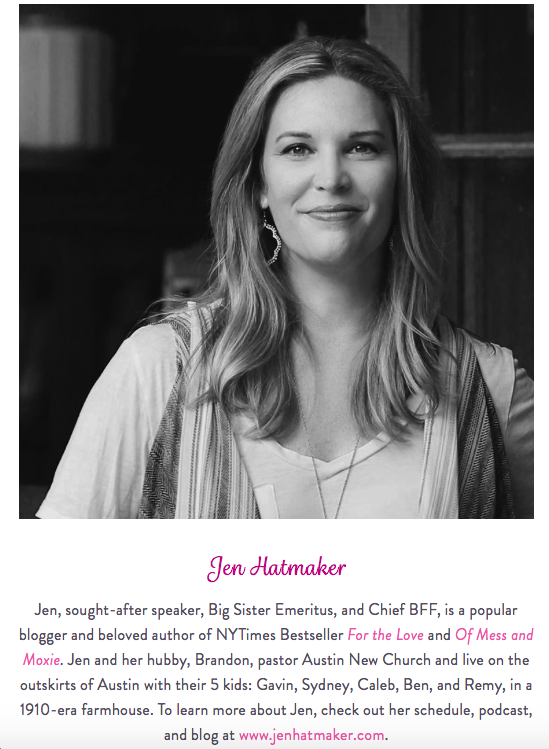 Jen Hatmker Black and White Bio Picutre
