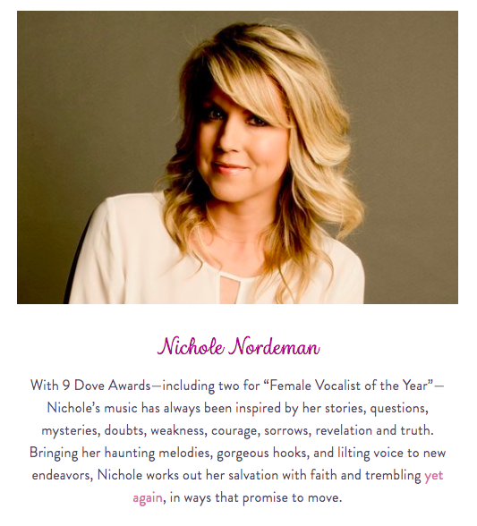 nichole nordeman joins the Brave On Conference as both singer and speaker
