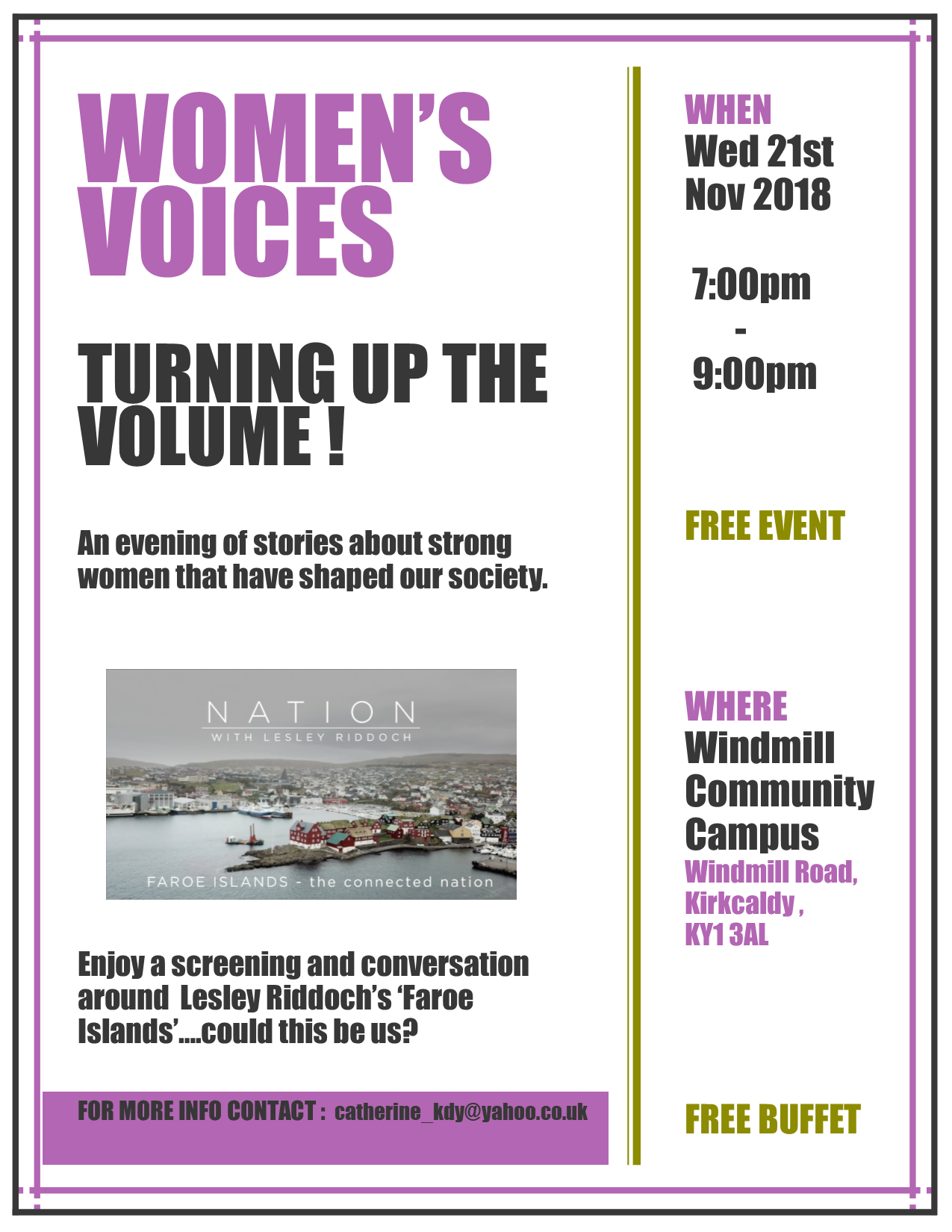 An evening of stories about strong women who have shaped our society