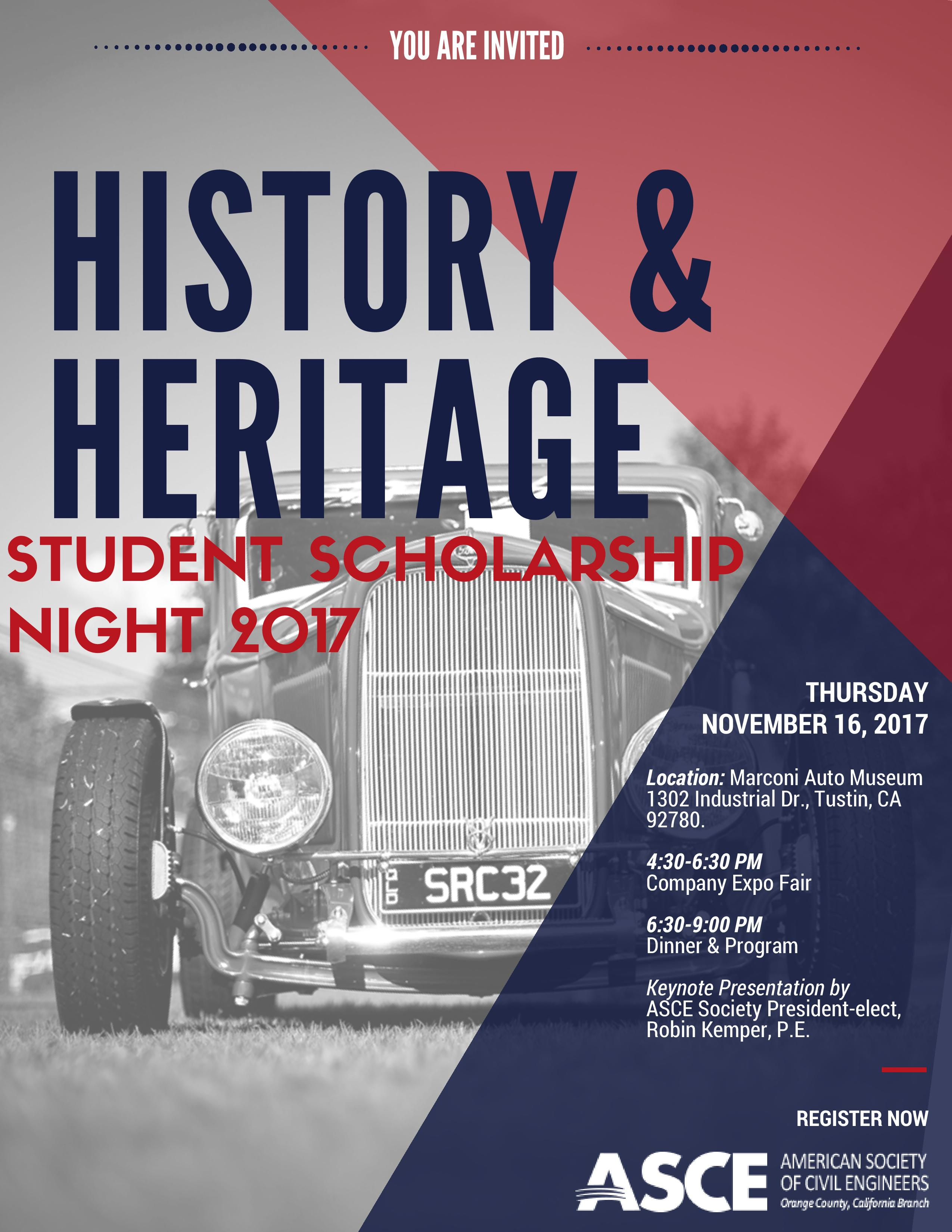 History and Heritage Night 2017