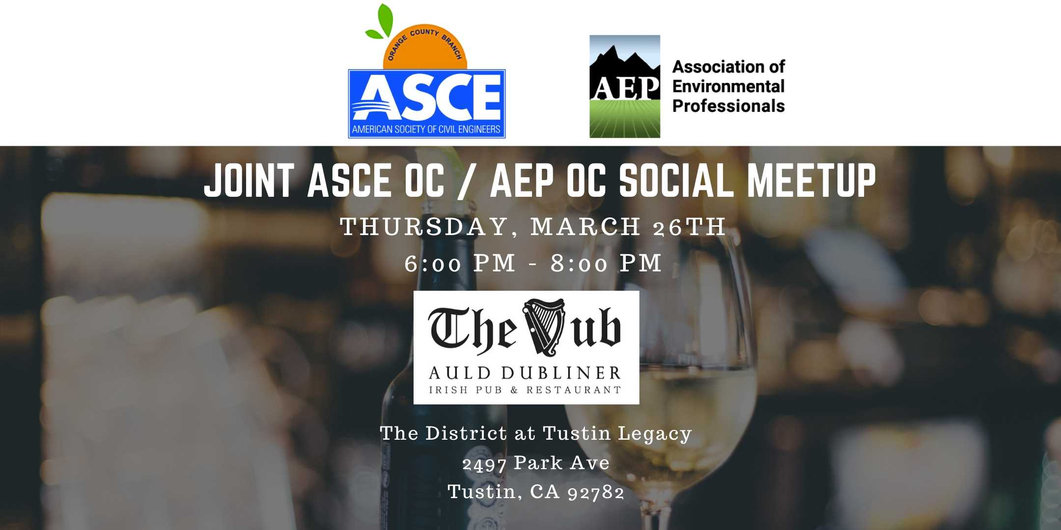 Joint Happy Hours with ASCE OC and AEP OC