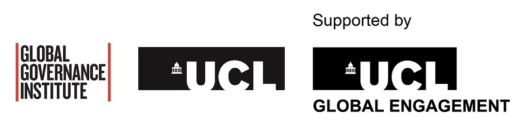 Logos: UCL GGI, UCL Public Policy and UCL Global Engagement