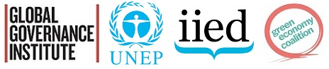GGI, UNEP, IIED and GEC Logos