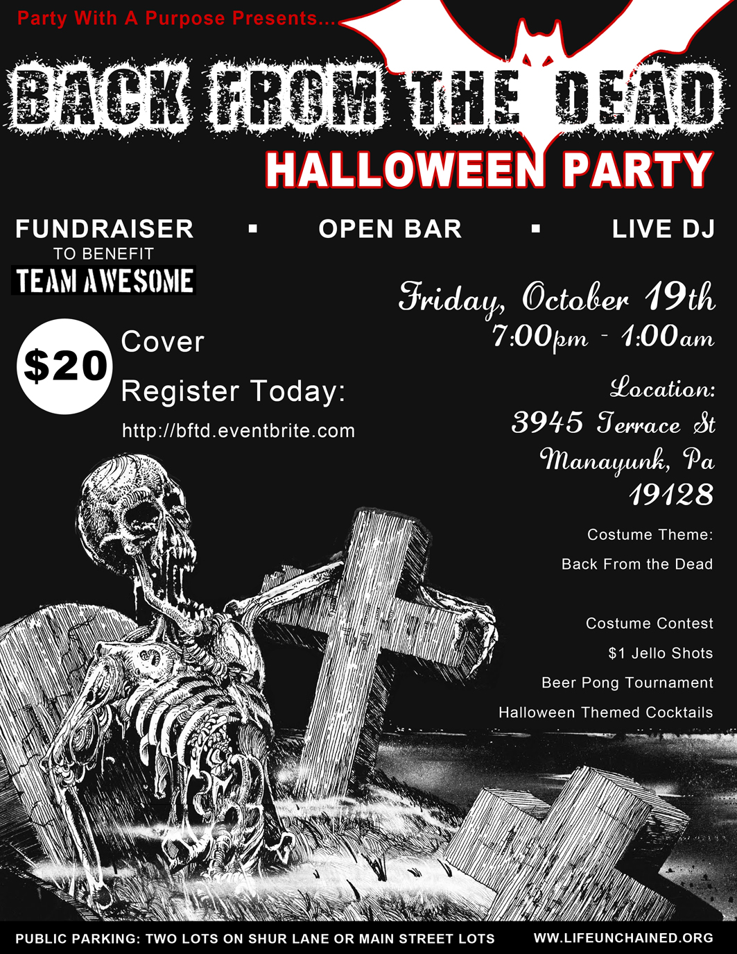 Back From The Dead - Halloween Party Flyer
