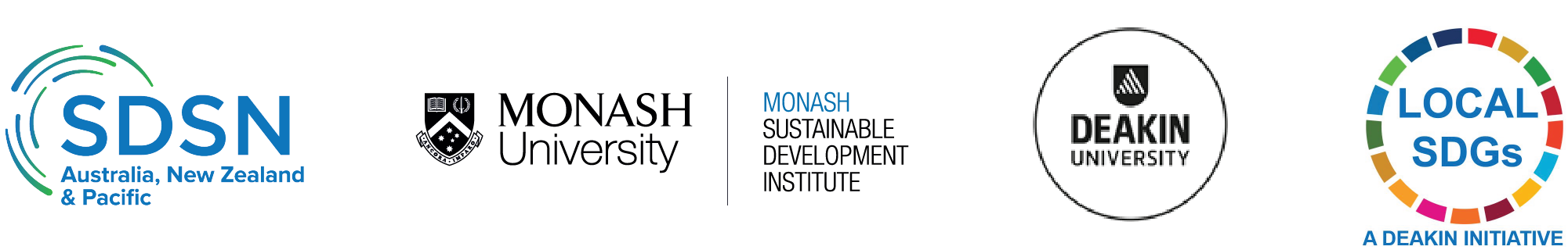 SDSN AusNZPac, Monash Sustainable Development Institute, Deakin University, The Local SDGs Program
