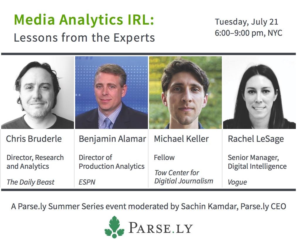 Media Analytics IRL Speakers