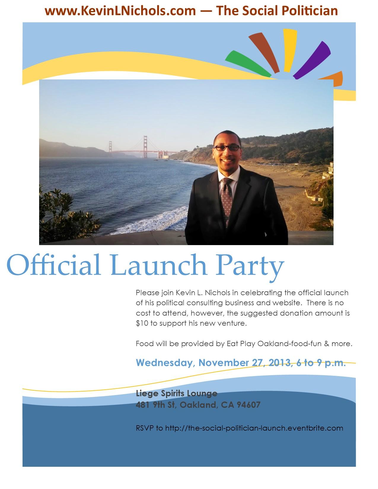 KLN Launch Party Flier